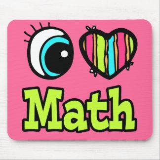 Bright Eye Heart I Love Math Mouse Mat