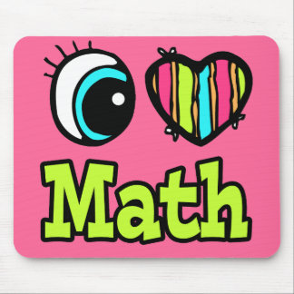 Bright Eye Heart I Love Math Mouse Pad