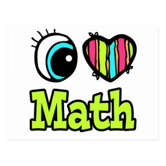 Bright Eye Heart I Love Math Post Card