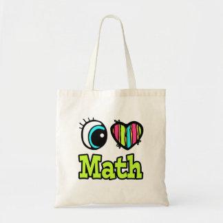 Bright Eye Heart I Love Math Tote Bag