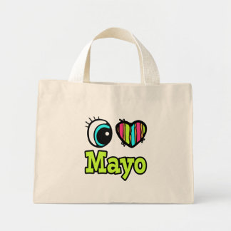 Bright Eye Heart I Love Mayo Mini Tote Bag