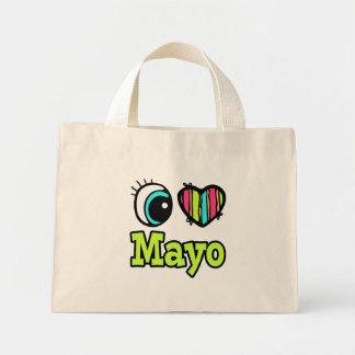Bright Eye Heart I Love Mayo Tote Bags