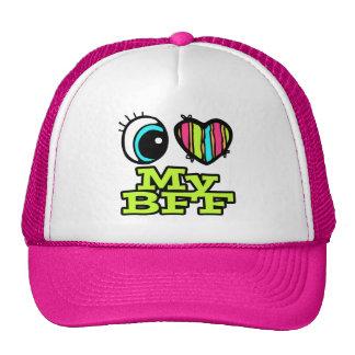 Bright Eye Heart I Love My BFF Hats