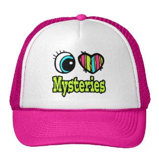 Bright Eye Heart I Love Mysteries Trucker Hats