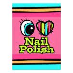 Bright Eye Heart I Love Nail Polish Invitations