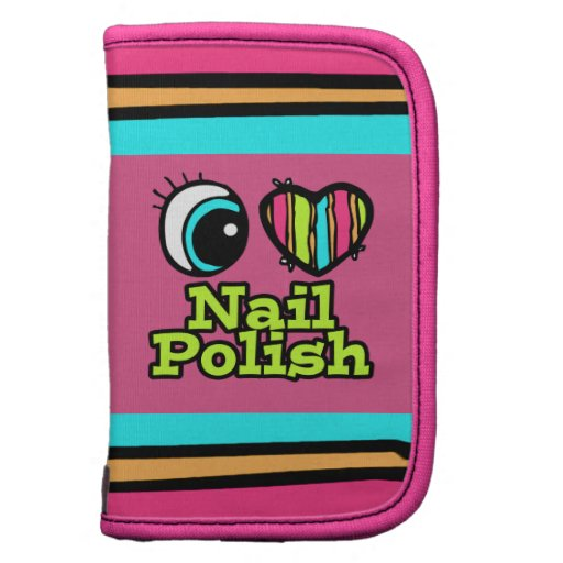 Bright Eye Heart I Love Nail Polish Planner