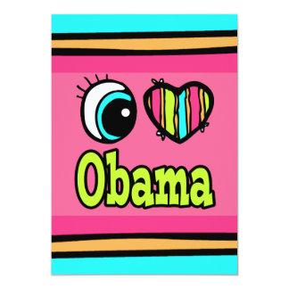 Bright Eye Heart I Love Obama 13 Cm X 18 Cm Invitation Card