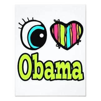Bright Eye Heart I Love Obama Invite