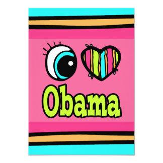 Bright Eye Heart I Love Obama Personalized Invites