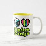 Bright Eye Heart I Love Onion Rings Two-Tone Mug