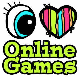 Bright Eye Heart I Love Online Games Acrylic Cut Out