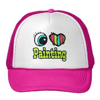 Bright Eye Heart I Love Painting Hat
