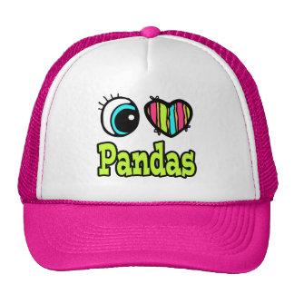 Bright Eye Heart I Love Pandas Hat