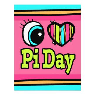 Bright Eye Heart I Love Pi Day 21.5 Cm X 28 Cm Flyer