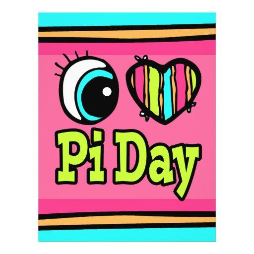 Bright Eye Heart I Love Pi Day Full Color Flyer