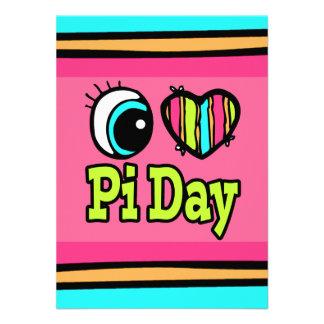 Bright Eye Heart I Love Pi Day Invite