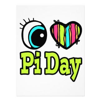 Bright Eye Heart I Love Pi Day Invites