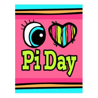 Bright Eye Heart I Love Pi Day Postcards