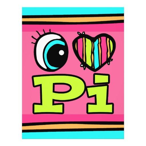 Bright Eye Heart I Love Pi Full Color Flyer