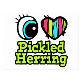 Bright Eye Heart I Love Pickled Herring Postcard