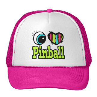 Bright Eye Heart I Love Pinball Hat