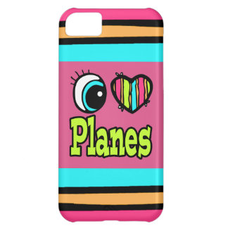 Bright Eye Heart I Love Planes iPhone 5C Cases