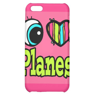 Bright Eye Heart I Love Planes iPhone 5C Case