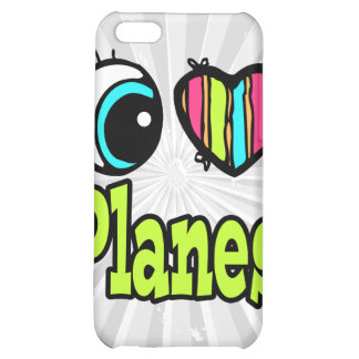 Bright Eye Heart I Love Planes Case For iPhone 5C