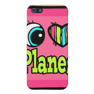 Bright Eye Heart I Love Planes Cases For iPhone 5