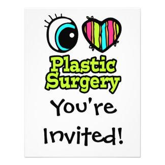 Bright Eye Heart I Love Plastic Surgery Custom Announcement