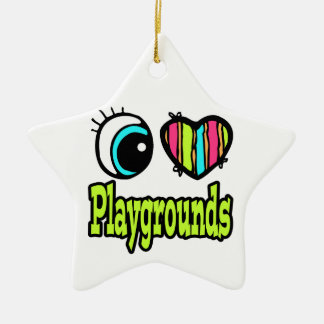 Bright Eye Heart I Love Playgrounds Christmas Ornament