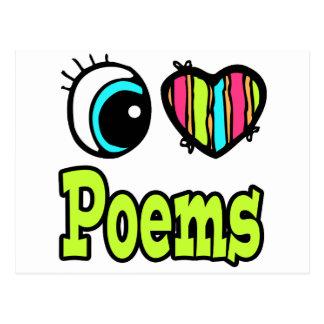 Bright Eye Heart I Love Poems Postcard