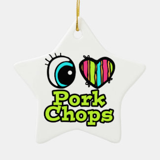 Bright Eye Heart I Love Pork Chops Christmas Ornament