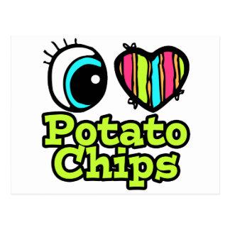 Bright Eye Heart I Love Potato Chips Postcard