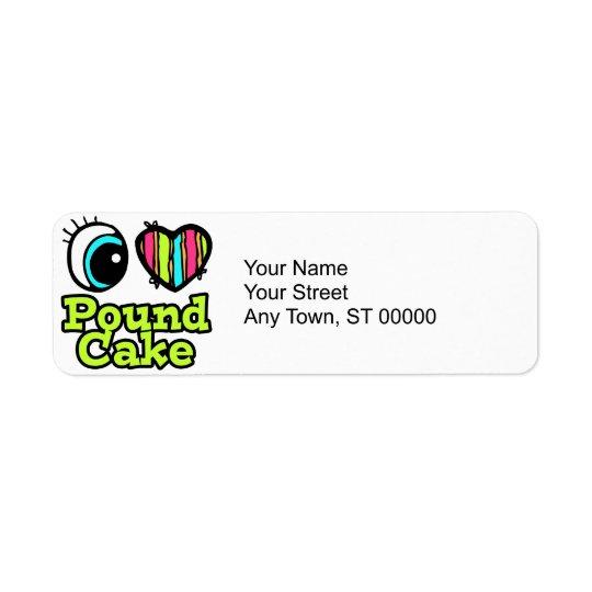 Bright Eye Heart I Love Pound Cake Return Address Label
