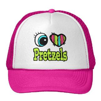 Bright Eye Heart I Love Pretzels Trucker Hat