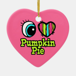 Bright Eye Heart I Love Pumpkin Pie Christmas Ornament