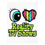 Bright Eye Heart I Love Reality TV Shows Personalized Announcements