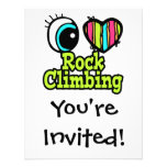 Bright Eye Heart I Love Rock Climbing Personalized Announcements