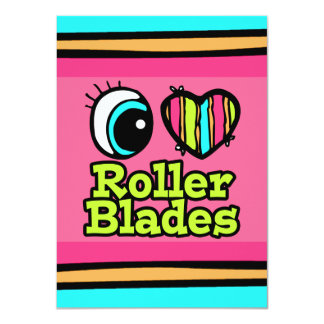 Bright Eye Heart I Love Roller Blades Custom Announcement