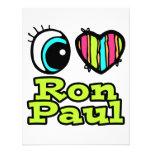 Bright Eye Heart I Love Ron Paul Invitation