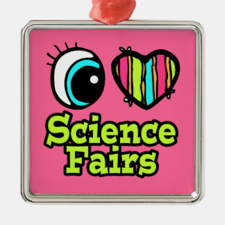 Bright Eye Heart I Love Science Fairs Christmas Ornament