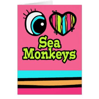 Bright Eye Heart I Love Sea Monkeys Card