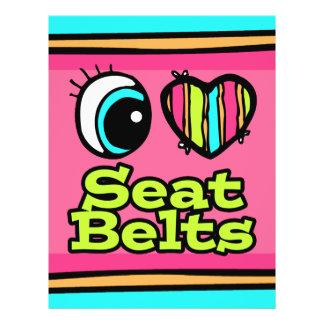 Bright Eye Heart I Love Seat Belts Custom Flyer