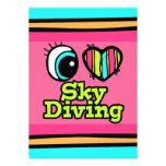 Bright Eye Heart I Love Skydiving Invitation