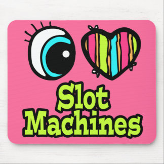 Bright Eye Heart I Love Slot Machines Mousepad