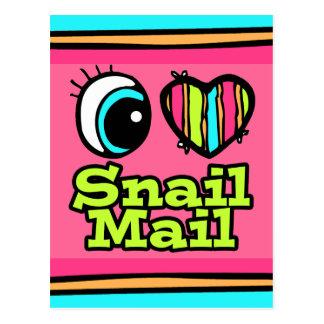 Bright Eye Heart I Love Snail Mail Postcard