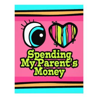 Bright Eye Heart I Love Spending My Parents Money 21.5 Cm X 28 Cm Flyer