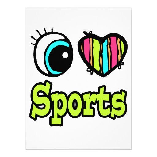 Bright Eye Heart I Love Sports Announcement
