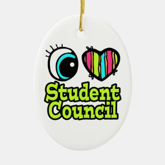 Bright Eye Heart I Love Student Council Christmas Ornament